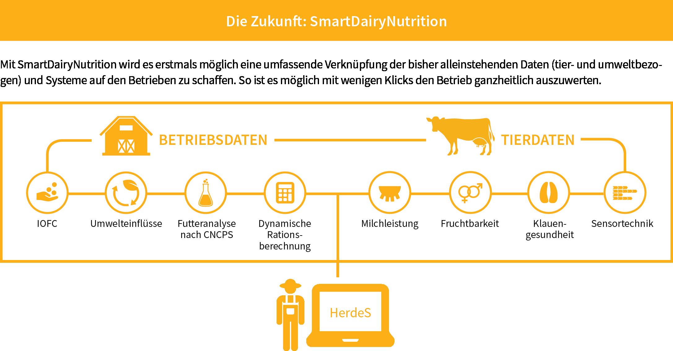 Die Zukunft: Ganzheitliches System SmartDairyNutrition